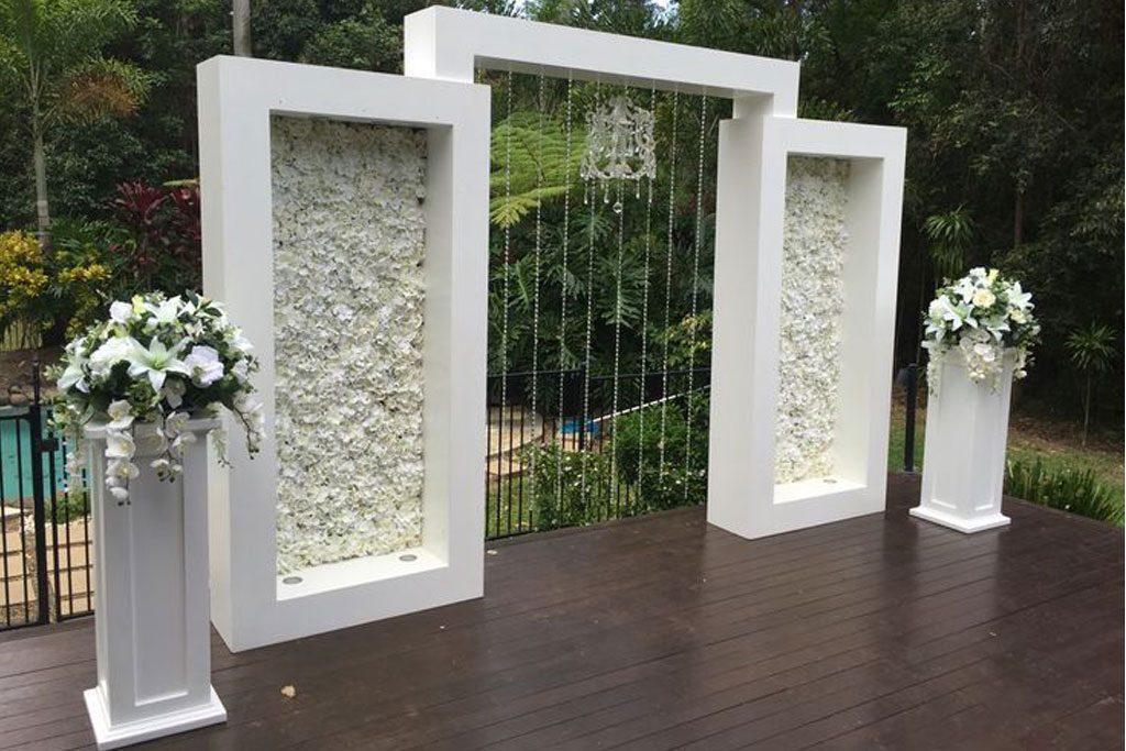 Dekorasi styrofoam gate pernikahan
