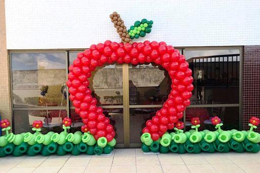 dekorasi balon gate ultah anak