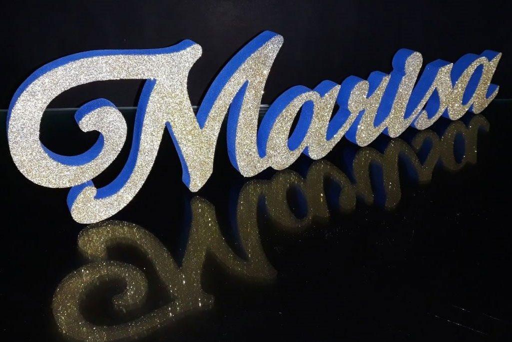dekorasi huruf styrofoam glitter
