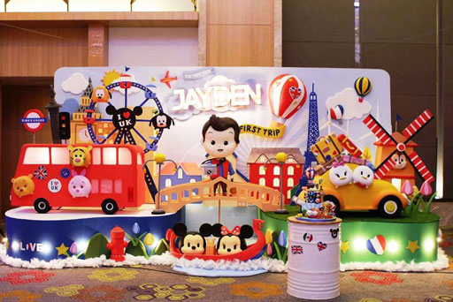 dekorasi styrofoam di hotel