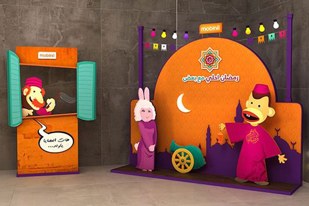 dekorasi styrofoam tema Ramadhan di mall