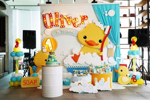 dekorasi styrofoam ulang tahun anak