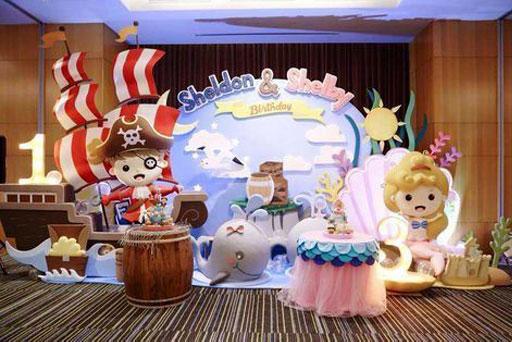 dekorasi styrofoam ulang tahun pertama
