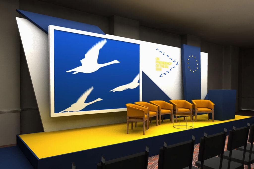 contoh dekorasi panggung seminar