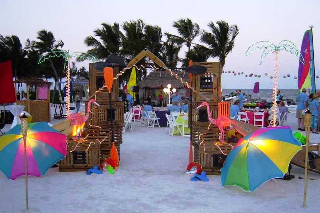 dekorasi ulang tahun dewasa tema pantai