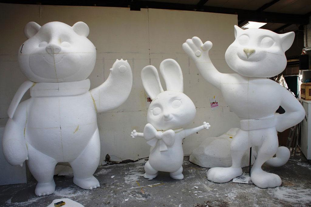 pembuatan patung styrofoam