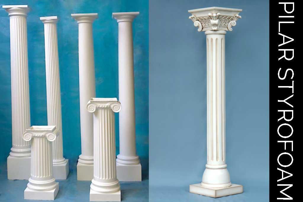properti dekorasi pilar styrofoam