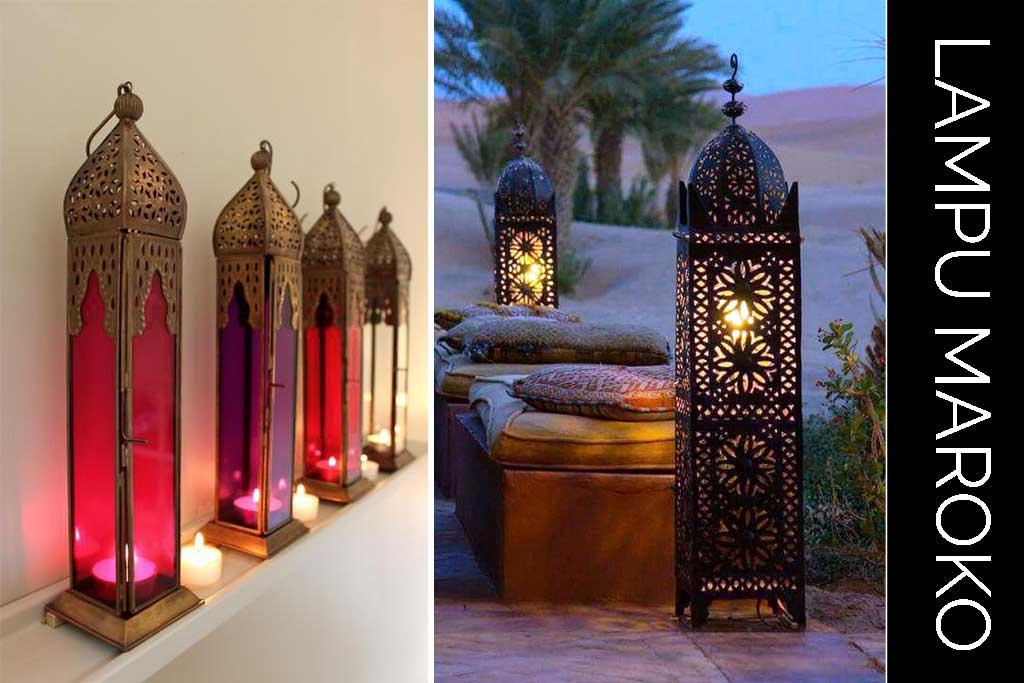 properti dekorasi lampu maroko untuk pelaminan
