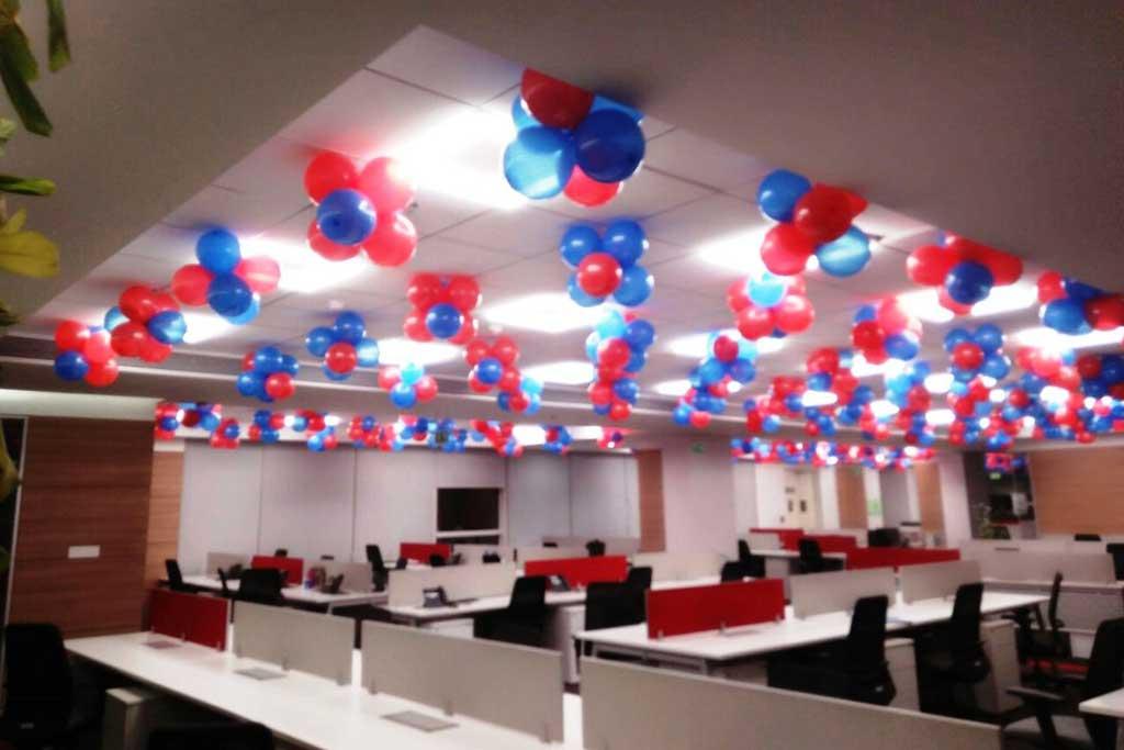 balon dekorasi acara kantor