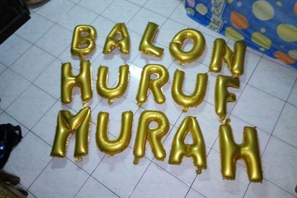 balon foil huruf dan angka untuk dekorasi