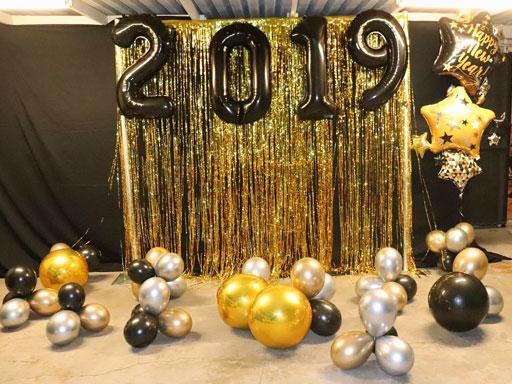 dekorasi balon sekolah photobooth