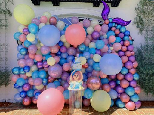 dekorasi balon ulang tahun anak perempuan dirumah