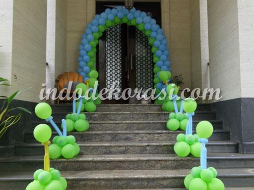 dekorasi balon ulang tahun di rumah sederhana