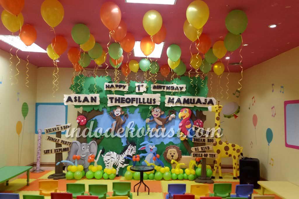 dekorasi ulang tahun anak tema jungle