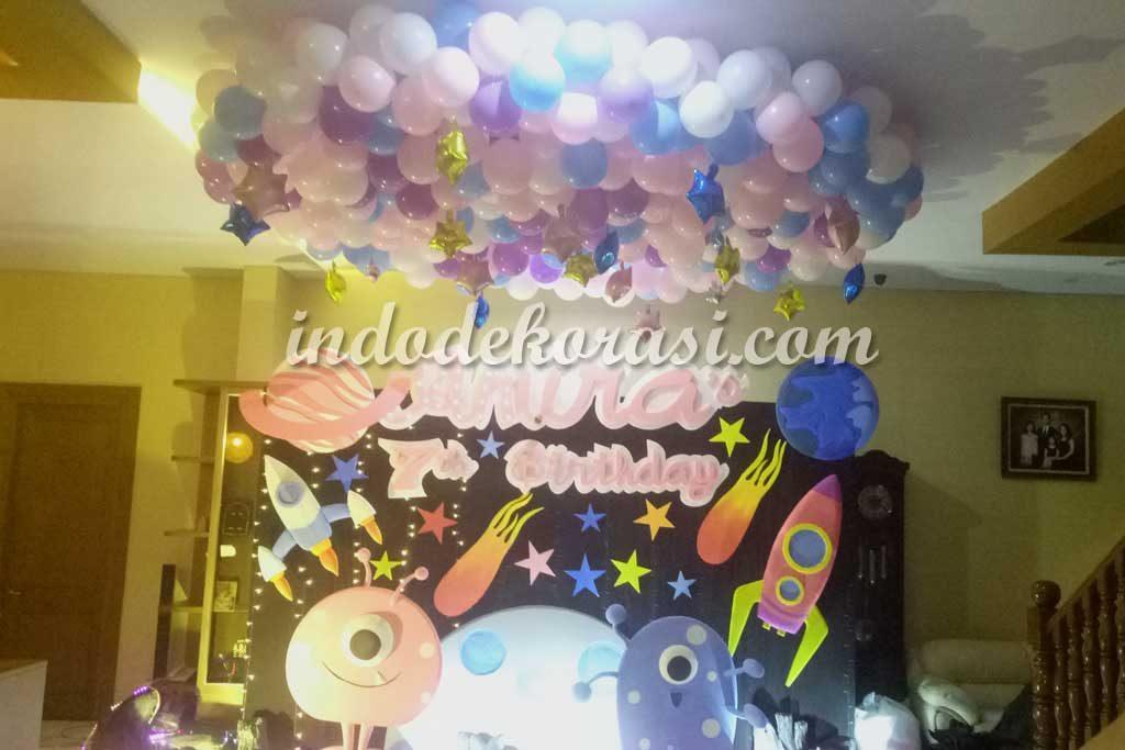 dekorasi ulang tahun sederhana tapi mewah di rumah