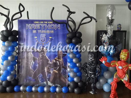 foto dekorasi balon panjang ulang tahun anak laki laki