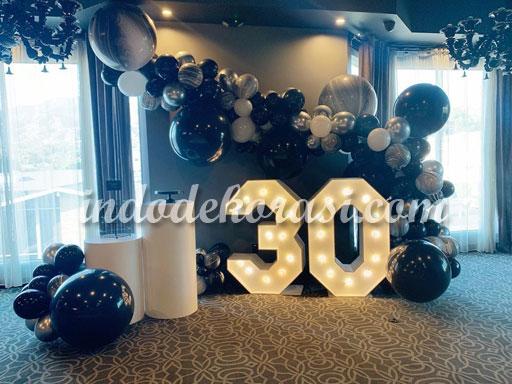 foto dekorasi balon ulang tahun dewasa