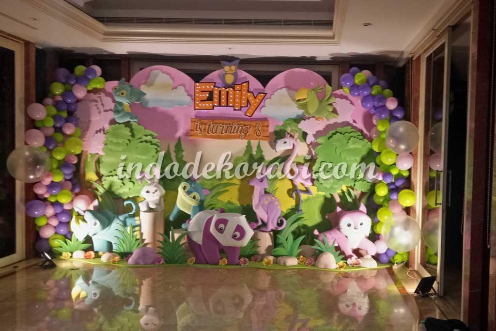 gambar contoh dekorasi ulang tahun anak perempuan