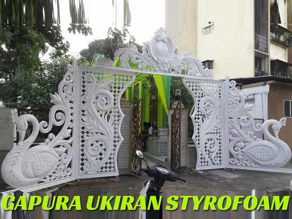 gate gapura ukiran styrofoam pernikahan