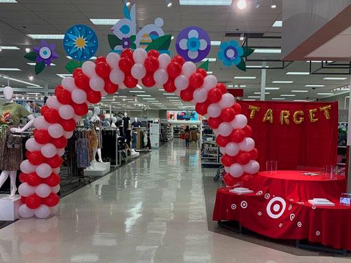 jasa dekorasi balon merah putih untuk toko