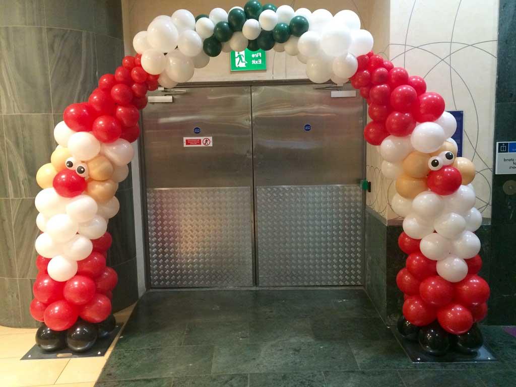 balon dekorasi gapura tema natal untuk mall dan toko